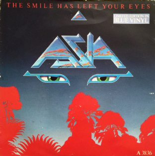 "Asia ‎- The Smile Has Left Your Eyes (7"") (Blue Vinyl) (VG+/VG-)"